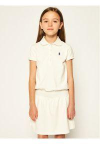 Biała sukienka Polo Ralph Lauren polo, casualowa, prosta, na co dzień