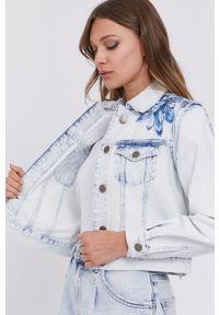 Niebieska kurtka TwinSet bez kaptura, klasyczna