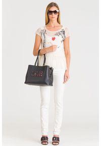 Białe jeansy Trussardi Jeans klasyczne, z podwyższonym stanem