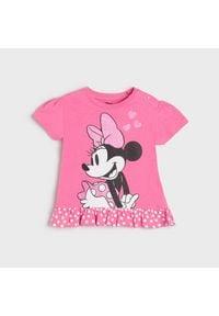 Sinsay - Koszulka Myszka Minnie - Różowy. Kolor: różowy. Wzór: motyw z bajki