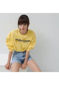 House - Bluza z nadrukiem Pokémon - Żółty. Kolor: żółty. Wzór: nadruk