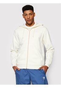 Adidas - adidas Bluza adicolor 3-Str Fz Nd GN3455 Beżowy Regular Fit. Kolor: beżowy