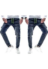 Czarne spodnie Recea w kolorowe wzory, klasyczne