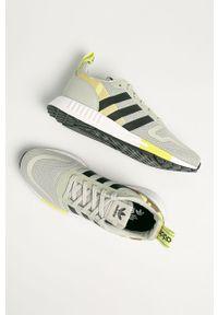 Zielone sneakersy adidas Originals na sznurówki, z cholewką