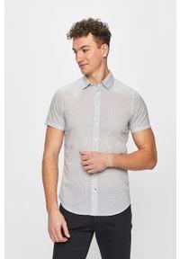 Biała koszula Blend klasyczna, krótka, na co dzień