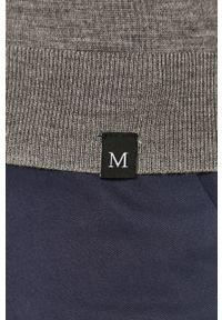 Szary sweter Marciano Guess długi, casualowy, z długim rękawem