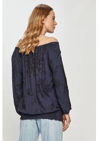 Niebieska bluzka Desigual casualowa, na co dzień, długa