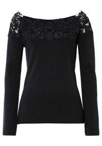Czarna bluzka bonprix w prążki, elegancka