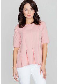 Różowa bluzka Katrus elegancka