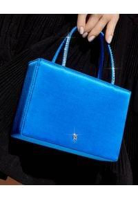 AMINA MUADDI - Niebieska torebka Amini Gilda. Kolor: niebieski