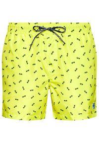 North Sails Szorty kąpielowe Volley Allover 673476 Żółty Regular Fit. Kolor: żółty #2
