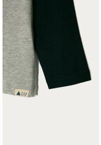 Szara koszulka z długim rękawem GAP casualowa, z nadrukiem