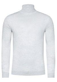 Karl Lagerfeld - KARL LAGERFELD Golf Knit 655040 502306 Szary Regular Fit. Typ kołnierza: golf. Kolor: szary