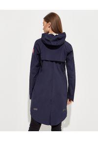 CANADA GOOSE - Granatowa kurtka Salida. Okazja: na co dzień. Kolor: niebieski. Materiał: jeans. Wzór: aplikacja. Sezon: wiosna. Styl: klasyczny, casual
