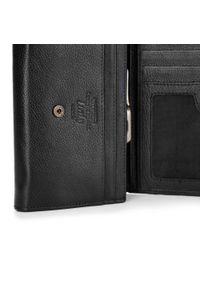 Wittchen - Damski portfel skórzany z portmonetką na bigiel. Kolor: czarny. Materiał: skóra