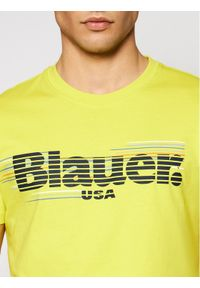 Blauer T-Shirt Monica Corta 21SBLUH02334 004547 Żółty Regular Fit. Kolor: żółty