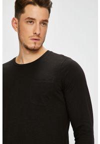 Czarna koszulka z długim rękawem PRODUKT by Jack & Jones casualowa, na co dzień