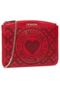 Love Moschino - Torebka LOVE MOSCHINO - JC4217PP0CKB150A Rosso/Nero. Kolor: czerwony. Materiał: skórzane. Styl: wizytowy, elegancki