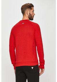 Czerwona bluza nierozpinana Guess Jeans casualowa, na co dzień