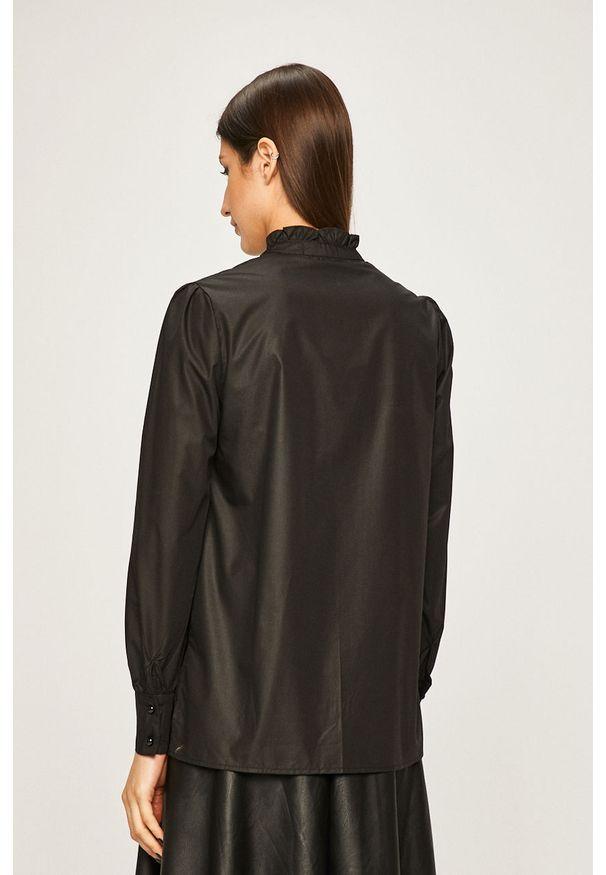 Czarna koszula ANSWEAR na co dzień, elegancka, długa, ze stójką