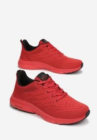 Born2be - Czerwone Buty Sportowe Nethosi. Kolor: czerwony