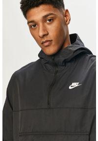 Czarna kurtka Nike Sportswear krótka, na co dzień, z kapturem