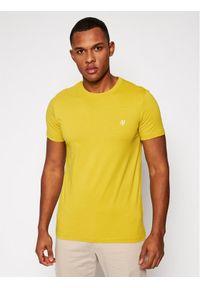 Marc O'Polo T-Shirt 121 2220 51068 Żółty Shaped Fit. Typ kołnierza: polo. Kolor: żółty