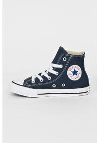 Niebieskie trampki Converse z okrągłym noskiem, z cholewką