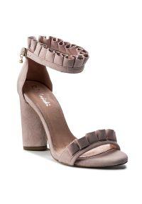 Różowe sandały R.Polański eleganckie