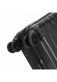 Wittchen - Średnia walizka z polikarbonu tłoczona. Kolor: czarny. Materiał: guma