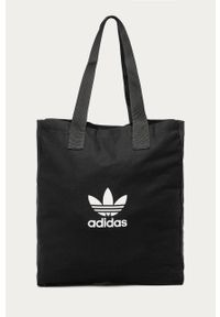 Czarna shopperka adidas Originals duża, na ramię, z nadrukiem #5