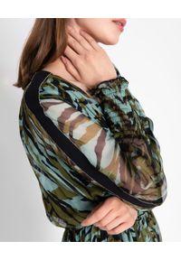 Nissa - NISSA - Jedwabna długa sukienka z printem. Kolor: czarny. Materiał: jedwab. Wzór: nadruk. Styl: klasyczny. Długość: maxi