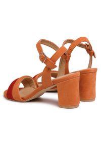 Pomarańczowe sandały Eksbut na co dzień, casualowe