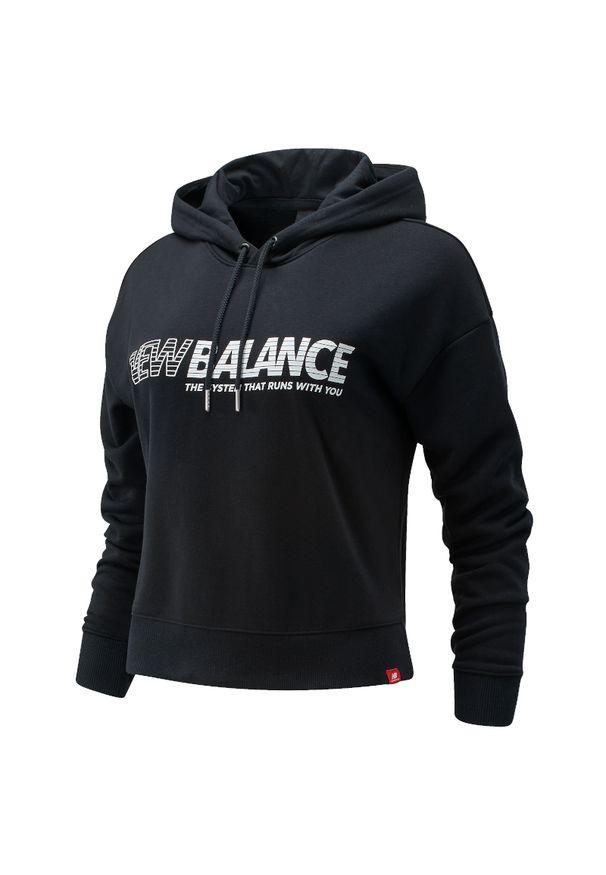 Bluza sportowa New Balance długa, z kapturem, z długim rękawem