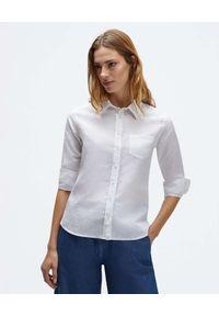 North Sails - NORTH SAILS - Biała koszula z lnu. Kolor: biały. Materiał: len
