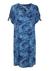 Cellbes Sukienka plażowa we wzory niebieski female ze wzorem/niebieski 38/40. Kolor: niebieski. Materiał: tkanina