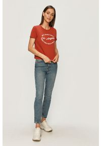 Niebieskie jeansy loose fit only z podwyższonym stanem