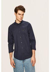 Niebieska koszula Lee długa, na co dzień, button down, casualowa