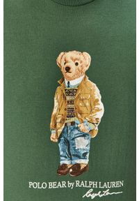 Zielony t-shirt Polo Ralph Lauren z nadrukiem, polo