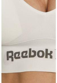 Reebok - Biustonosz sportowy. Kolor: biały