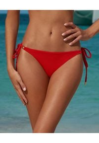 Melissa Odabash - MELISSA ODABASH - Dół od Bikini Cancun. Kolor: czerwony. Materiał: materiał