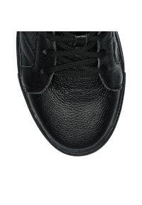 Czarne buty sportowe Arturo Vicci na co dzień, z cholewką