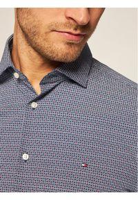 TOMMY HILFIGER - Tommy Hilfiger Tailored Koszula Print Classic TT0TT07733 Niebieski Slim Fit. Kolor: niebieski. Wzór: nadruk