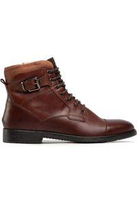 Brązowe buty zimowe Geox
