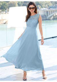 Fioletowa sukienka bonprix maxi, wizytowa