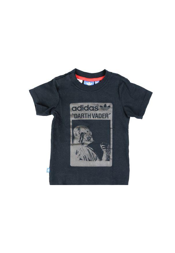 Czarny t-shirt Adidas z motywem z bajki
