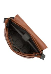 Brązowa torba na laptopa Wittchen w kolorowe wzory, biznesowa