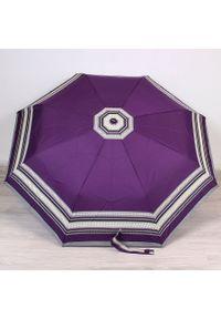 Parasol składany DOPPLER PA124 fioletowy. Kolor: fioletowy. Materiał: materiał