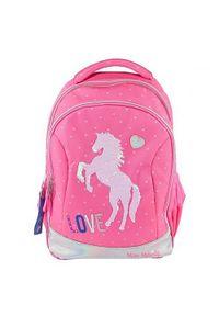 Różowy plecak Miss Melody w kolorowe wzory