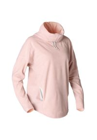 KIMJALY - Bluza do jogi damska (do relaksacji). Kolekcja: moda ciążowa. Kolor: różowy. Materiał: poliester, bawełna, materiał. Długość: długie. Sport: joga i pilates